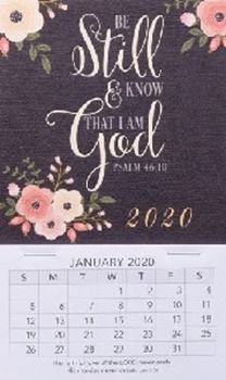Picture of MAGNETIC CALENDAR 2020 BE STILL & KNOW
