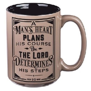 Picture of MUG A MANS HEART PLANS HIS COURSE