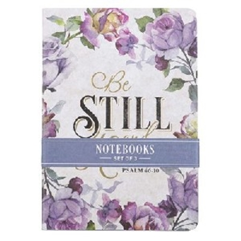 Picture of Notebook (Set of 3) Psalm 46:10 Be Still And Know