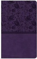 Picture of CSB Ultrathin Reference Bible Purple Leathertouch