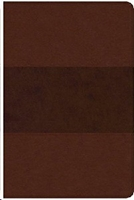 Picture of CSB Reference Bible Large Print Leathertouch Brown