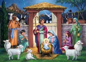 Picture of PUZZLE HOLY MANGER 1000 PIECE
