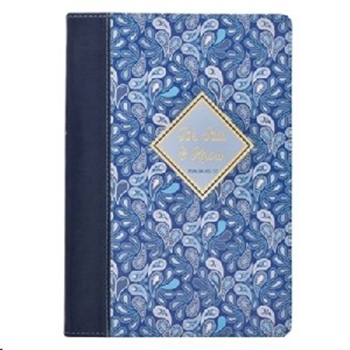 Picture of Journal Classic Blue Paisley Be Still & Know