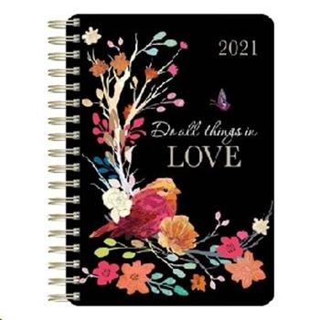 Picture of Daily Planner Wirebound Bird/Love 2021