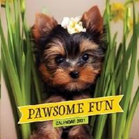Picture of Calendar Small Pawsome Fun 2021