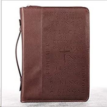 Picture of Bible Bag Luxleather Names of Jesus Burgandy Large