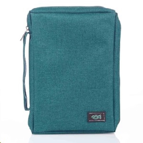 Picture of Bible Bag Value With Fish Badge Teal Large