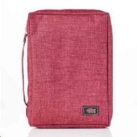 Picture of Bible Bag Value With Fish Badge Burgandy Large
