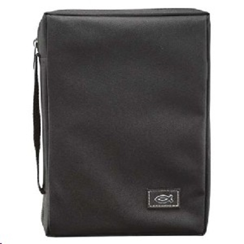 Picture of Bible Bag Value With Fish Black Large