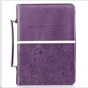 Picture of Bible Bag I Know the Plans Jer29:11 Purple Medium