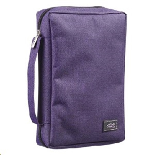 Picture of Bible Bag Value With Fish Badge Purple Medium
