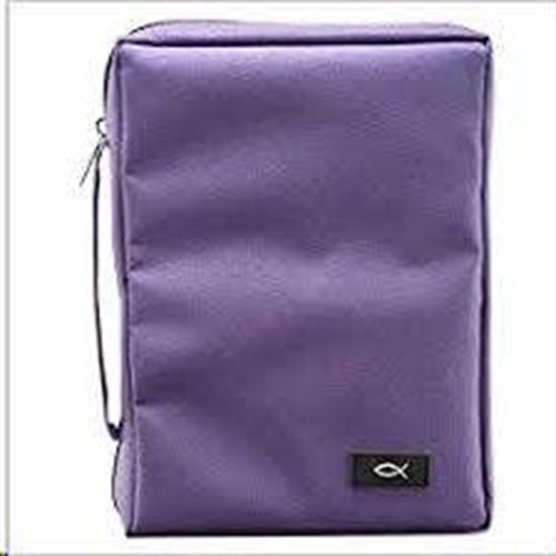 Picture of Bible Bag Value With Fish Purple Large