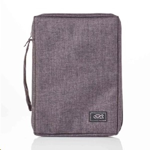 Picture of Bible Bag Value With Fish Badge Grey Large