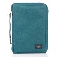 Picture of Bible Bag Value With Fish Badge Teal Medium