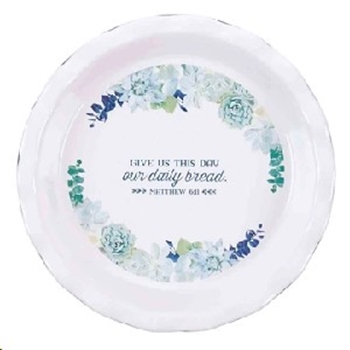 Picture of Ceramic Pie Plate Gives Us This Day Our Daily Brea