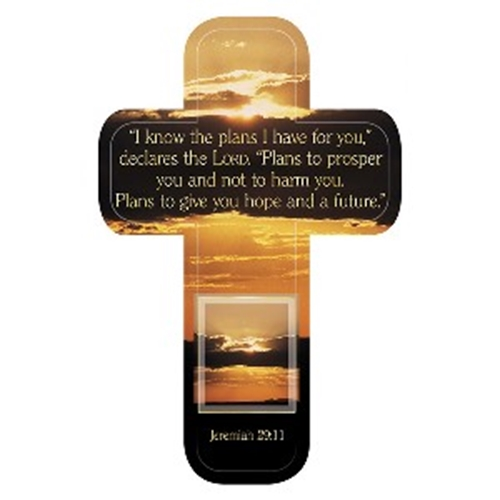 Picture of Cross Bookmark I Know The Plans