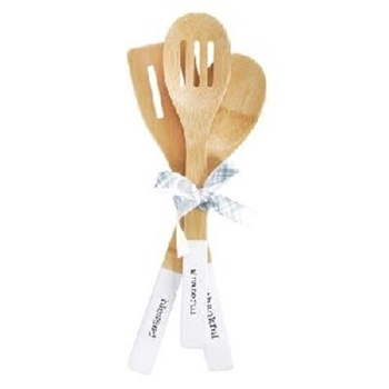 Picture of Bamboo Spoon Set Thankful Grateful Blessed