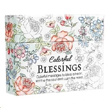 Picture of Colouring In Box Cards Colourful Blessings