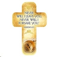 Picture of Cross Bookmark Never Will I Leave You