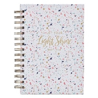 Picture of Journal Wirebound Let Your Light Shine Confetti