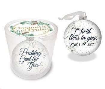 Picture of Christmas Ornament Praising God For You