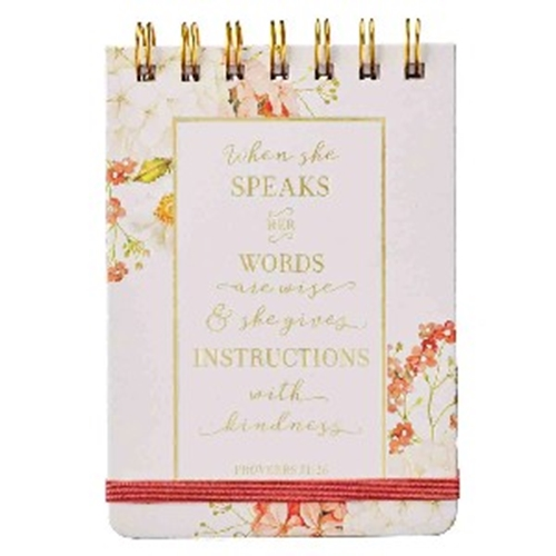 Picture of Notebook Small Proverbs 31:26 When She Speaks Her