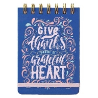 Picture of Notebook Small Give Thanks With A Grateful Heart