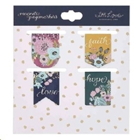 Picture of Magnetic Page Markers Faith Hope Love