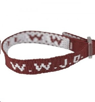 Picture of Wristband WWJD Maroon