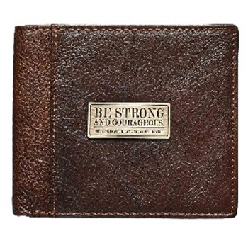Picture of Wallet: Be Strong & Courageous (Genuine Leather)