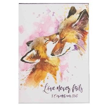 Picture of Notepad Love Never Fails 1 Corinthians 13:8