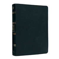 Picture of ESV Standard Index Black Genuine Leather