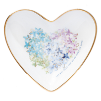 Picture of Ceramic Trinket Tray Violet Floral Heart
