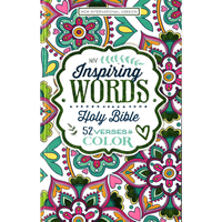Picture of NIV Inspiring Words Bible: 52 Verses to colour