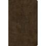 Picture of ESV Premium Gift Bible Tuotone Olive Celtic Cross