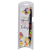 Picture of Pen & Bookmark Set Make a Difference