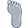 Picture of Bookmark Footprint Shaped