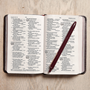 Picture of CSB Large Print Compact Reference Bible Crimson