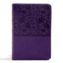 Picture of CSB Large Print Compact Reference Bible Purple