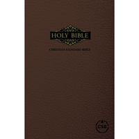 Picture of CSB Large Print Bible Leatherflex Brown