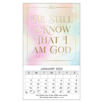 Picture of Be Still Psalm 46:10 (Mini Magnetic Calendar 2022)